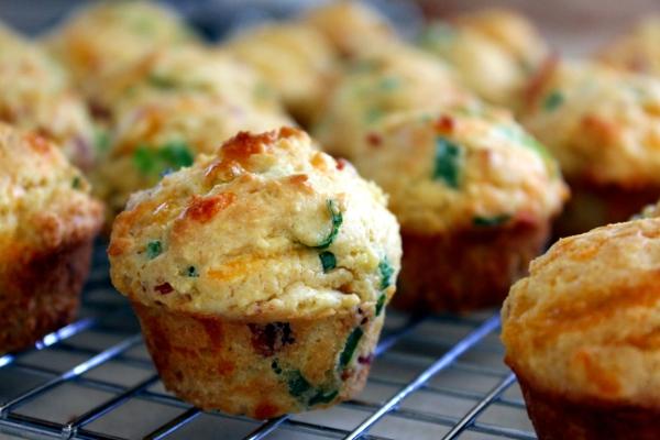 Bacon Cheddar Corn Muffins