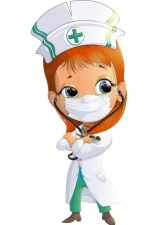 Woman Doctor cartoon